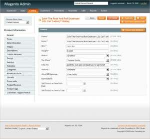 Magento Admin Screenshot
