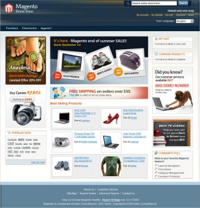 Magento Homepage Screenshot