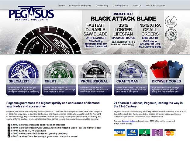 Development of Pegasus Diamond Profucts Website